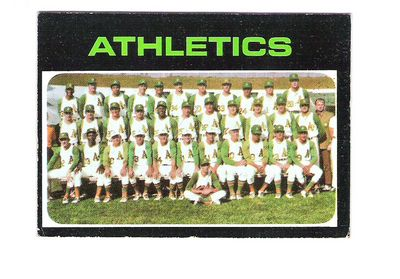 1971 Topps #624 Oakland Athletics TC