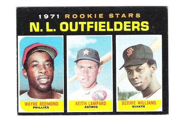 1971 Topps #728 Rookie Stars/Wayne Redmond RC/Keith Lampard/Bernie Williams