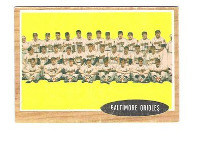 1962 Topps #476 Baltimore Orioles TC