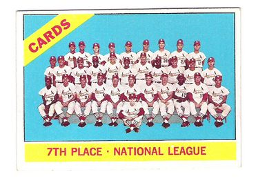 1966 Topps #379 St. Louis Cardinals TC