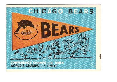 1959 Topps #153 Bears Pennant