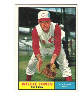 1961 Topps #497 Willie Jones front image