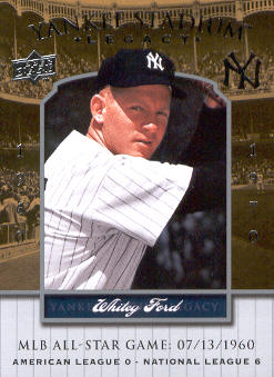 2008 Upper Deck Yankee Stadium Legacy Collection Historical Moments #2946 Whitey Ford/1960 All Star Game