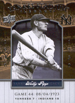 2008 Upper Deck Yankee Stadium Legacy Collection #44 Wally Pipp