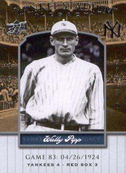 2008 Upper Deck Yankee Stadium Legacy Collection #83 Wally Pipp