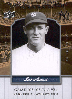 2008 Upper Deck Yankee Stadium Legacy Collection #105 Bob Meusel