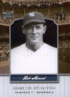 2008 Upper Deck Yankee Stadium Legacy Collection #121 Bob Meusel