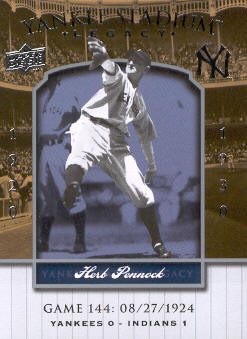 2008 Upper Deck Yankee Stadium Legacy Collection #144 Herb Pennock