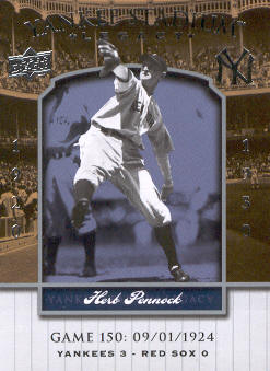 2008 Upper Deck Yankee Stadium Legacy Collection #150 Herb Pennock