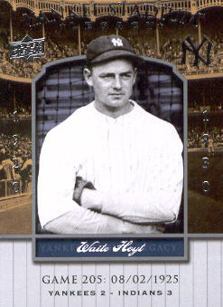 2008 Upper Deck Yankee Stadium Legacy Collection #205 Waite Hoyt