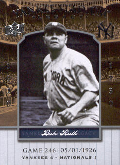2008 Upper Deck Yankee Stadium Legacy Collection #246 Babe Ruth