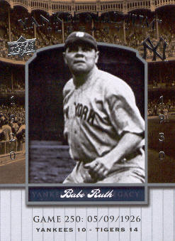 2008 Upper Deck Yankee Stadium Legacy Collection #250 Babe Ruth