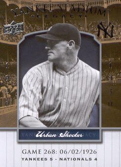 2008 Upper Deck Yankee Stadium Legacy Collection #268 Urban Shocker