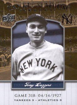 2008 Upper Deck Yankee Stadium Legacy Collection #318 Tony Lazzeri