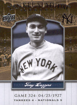 2008 Upper Deck Yankee Stadium Legacy Collection #324 Tony Lazzeri