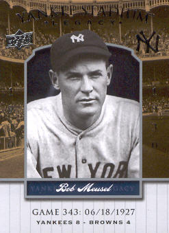 2008 Upper Deck Yankee Stadium Legacy Collection #343 Bob Meusel