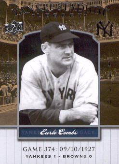 2008 Upper Deck Yankee Stadium Legacy Collection #374 Earle Combs