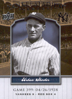 2008 Upper Deck Yankee Stadium Legacy Collection #399 Urban Shocker