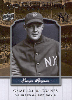 2008 Upper Deck Yankee Stadium Legacy Collection #424 George Pipgras