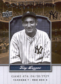 2008 Upper Deck Yankee Stadium Legacy Collection #474 Tony Lazzeri
