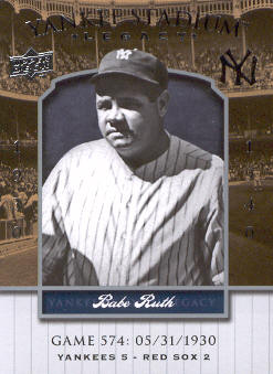 2008 Upper Deck Yankee Stadium Legacy Collection #574 Babe Ruth