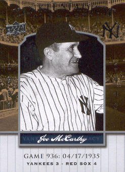 2008 Upper Deck Yankee Stadium Legacy Collection #936 Joe McCarthy front image