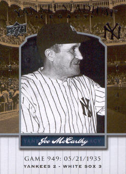 2008 Upper Deck Yankee Stadium Legacy Collection #949 Joe McCarthy front image