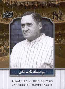 2008 Upper Deck Yankee Stadium Legacy Collection #1217 Joe McCarthy