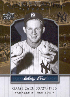 2008 Upper Deck Yankee Stadium Legacy Collection #2613 Whitey Ford