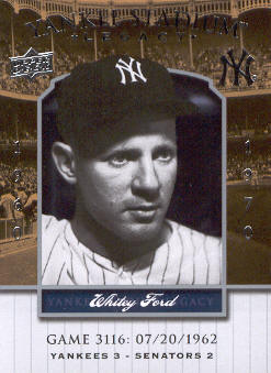 2008 Upper Deck Yankee Stadium Legacy Collection #3116 Whitey Ford