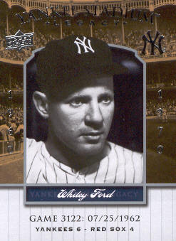 2008 Upper Deck Yankee Stadium Legacy Collection #3122 Whitey Ford
