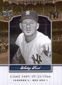 2008 Upper Deck Yankee Stadium Legacy Collection #3489 Whitey Ford