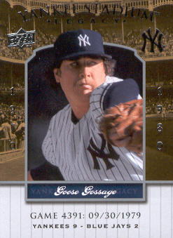 2008 Upper Deck Yankee Stadium Legacy Collection #4391 Goose Gossage