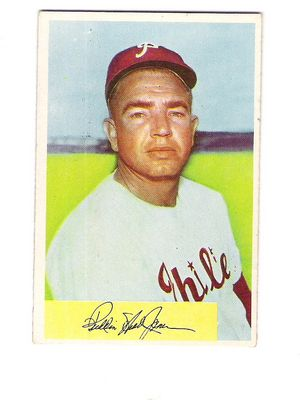1954 Bowman #143 Willie Jones front image