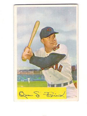 1954 Bowman #212A Owen Friend .964/.957 Fielding Avg.