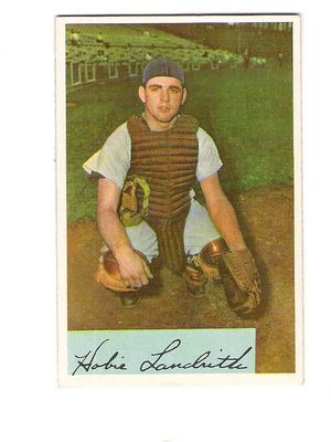 1954 Bowman #220 Hobie Landrith RC