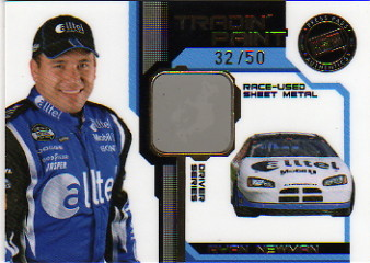 2006 VIP Tradin' Paint Drivers Gold #TPD15 Ryan Newman