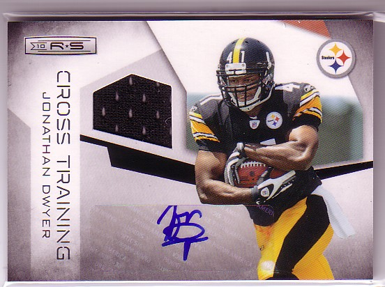 2010 Rookies and Stars Crosstraining Materials Autographs #5 Jonathan Dwyer/100