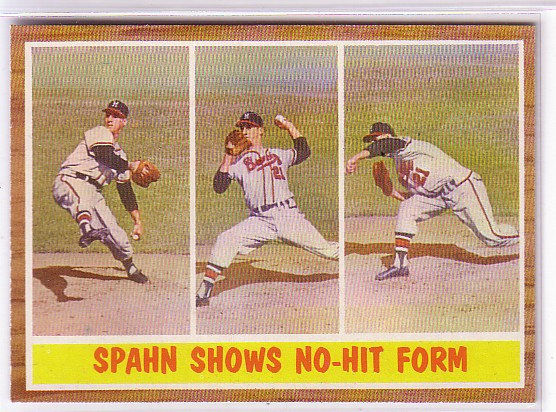 1962 Topps #312 Warren Spahn IA