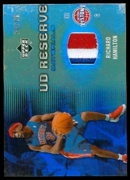 2006-07 UD Reserve Materials Patches #RH Richard Hamilton
