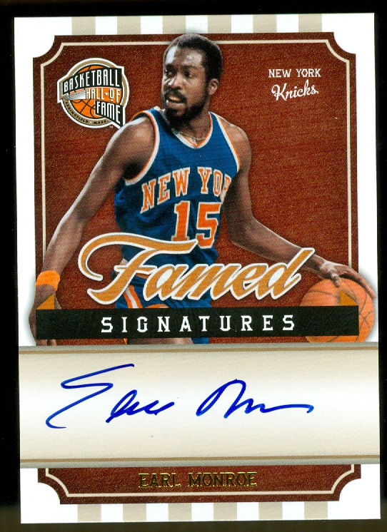 2009-10 Hall of Fame Famed Signatures #36 Earl Monroe/399