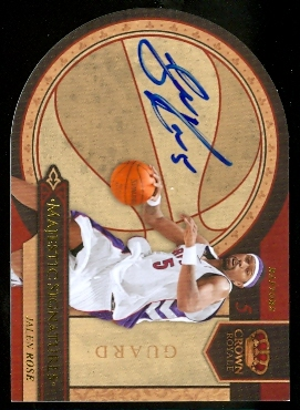 2009-10 Crown Royale Majestic Signatures #JR Jalen Rose/199