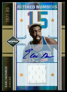 2010-11 Limited Retired Numbers Materials Signatures #10 Earl Monroe/5