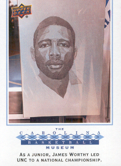 2010-11 Upper Deck North Carolina #133 James Worthy BM