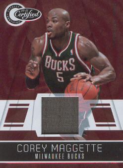 2010-11 Totally Certified Red Materials #12 Corey Maggette/249