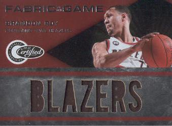 2010-11 Totally Certified Fabric of the Game Jumbo Team #22 Brandon Roy/299