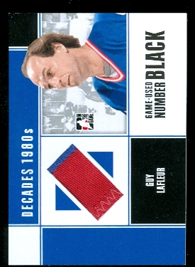 2010-11 ITG Decades 1980s Game Used Numbers Black #M66 Guy Lafleur