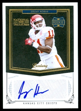 2010 Playoff National Treasures Century Gold Signature #247 Jeremy Horne/25
