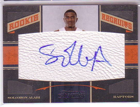 2010-11 Timeless Treasures #145 Solomon Alabi AU/299 RC