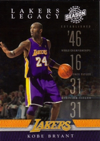 2009-10 Panini Season Update Lakers Legacy #1 Kobe Bryant